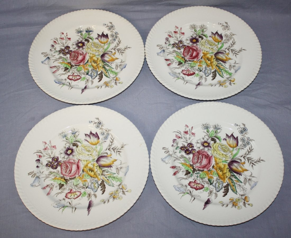 4 English Johnson Bros Windsor Ware Garden Bouquet