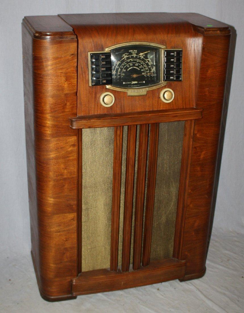 1930's Zenith radio in Art Deco cabinet - 3