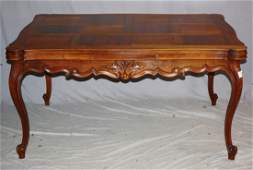 French Louis XV parquet top table