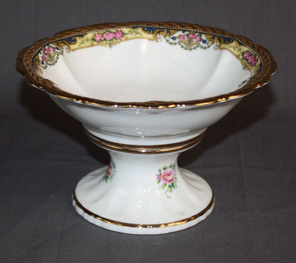 Limoges porcelain footed bowl