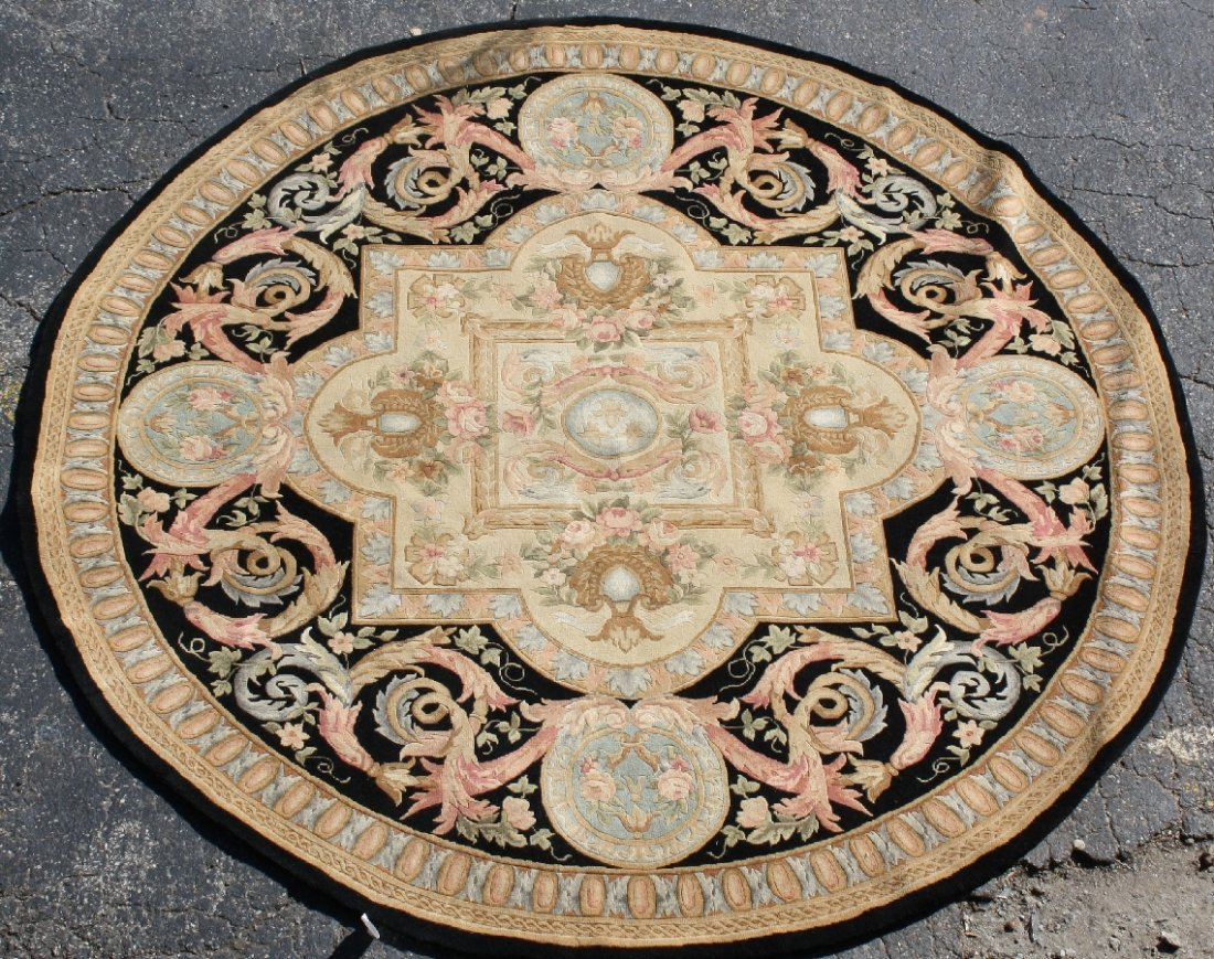 8.3 dia Chinese Aubusson rug