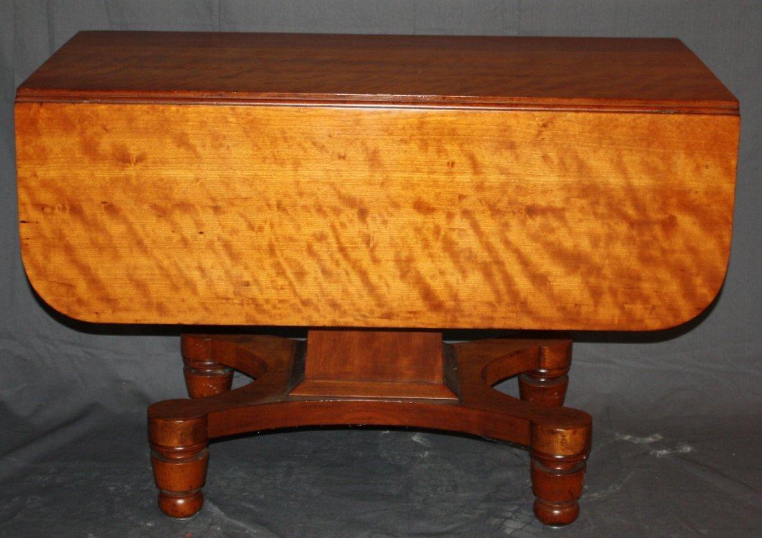English Regency drop side table pedestal table in