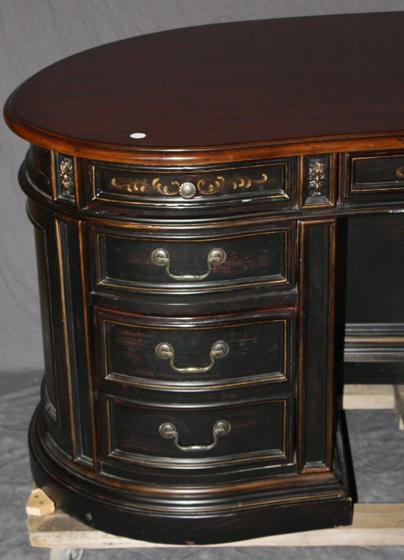 Seven Seas by Hooker kidney shape painted finish desk - 2