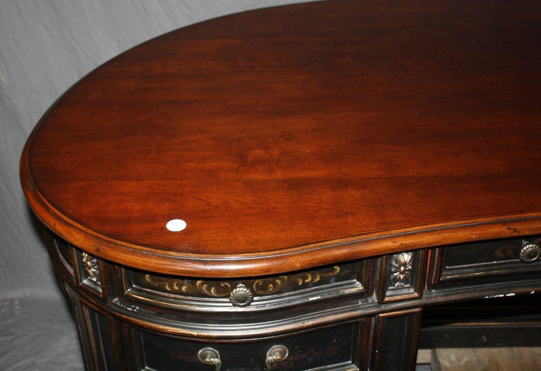 Seven Seas by Hooker kidney shape painted finish desk - 3