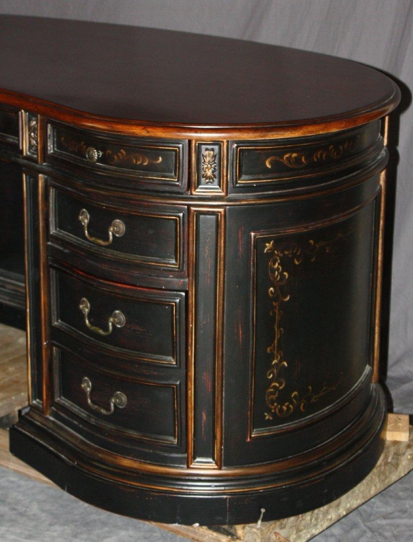 Seven Seas by Hooker kidney shape painted finish desk - 5
