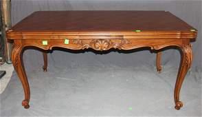 French Louis XV drawleaf table in walnut
