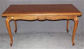 French Louis XV drawleaf table in oak