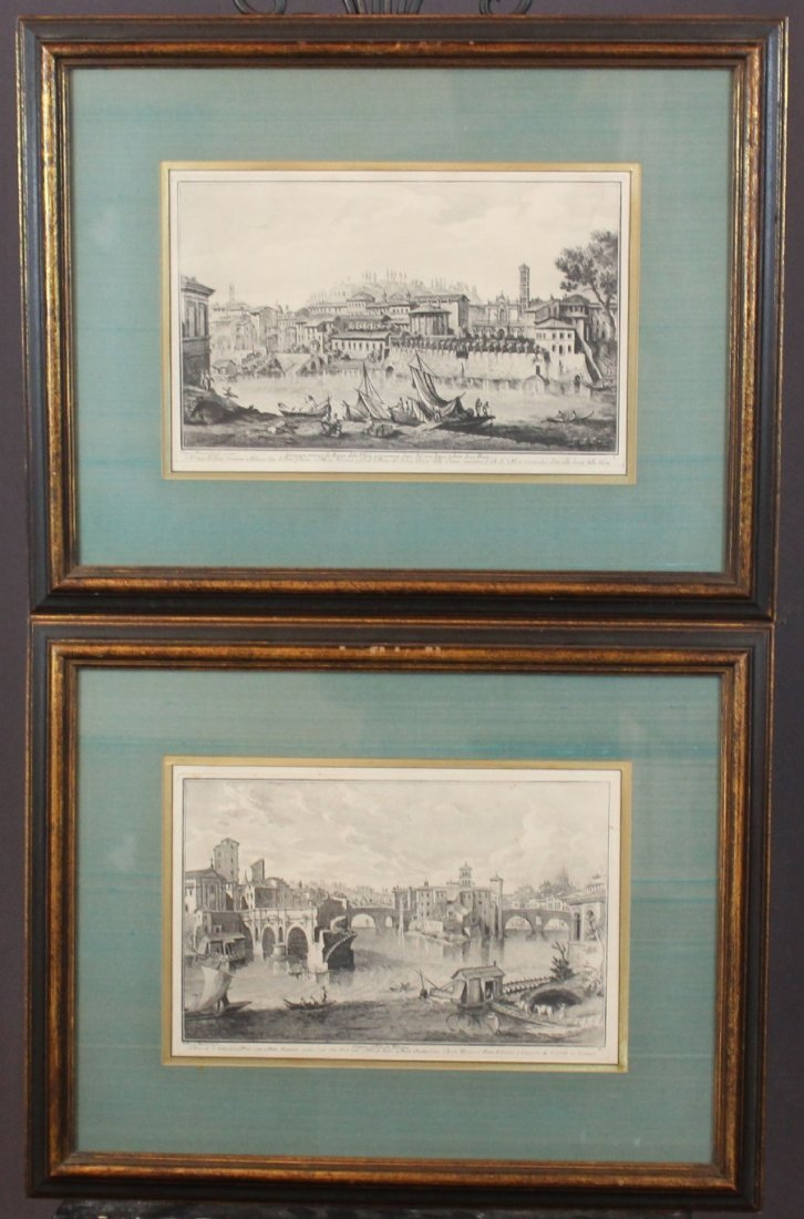 Lot of 2 Giuseppe Vasi engravings of Venice