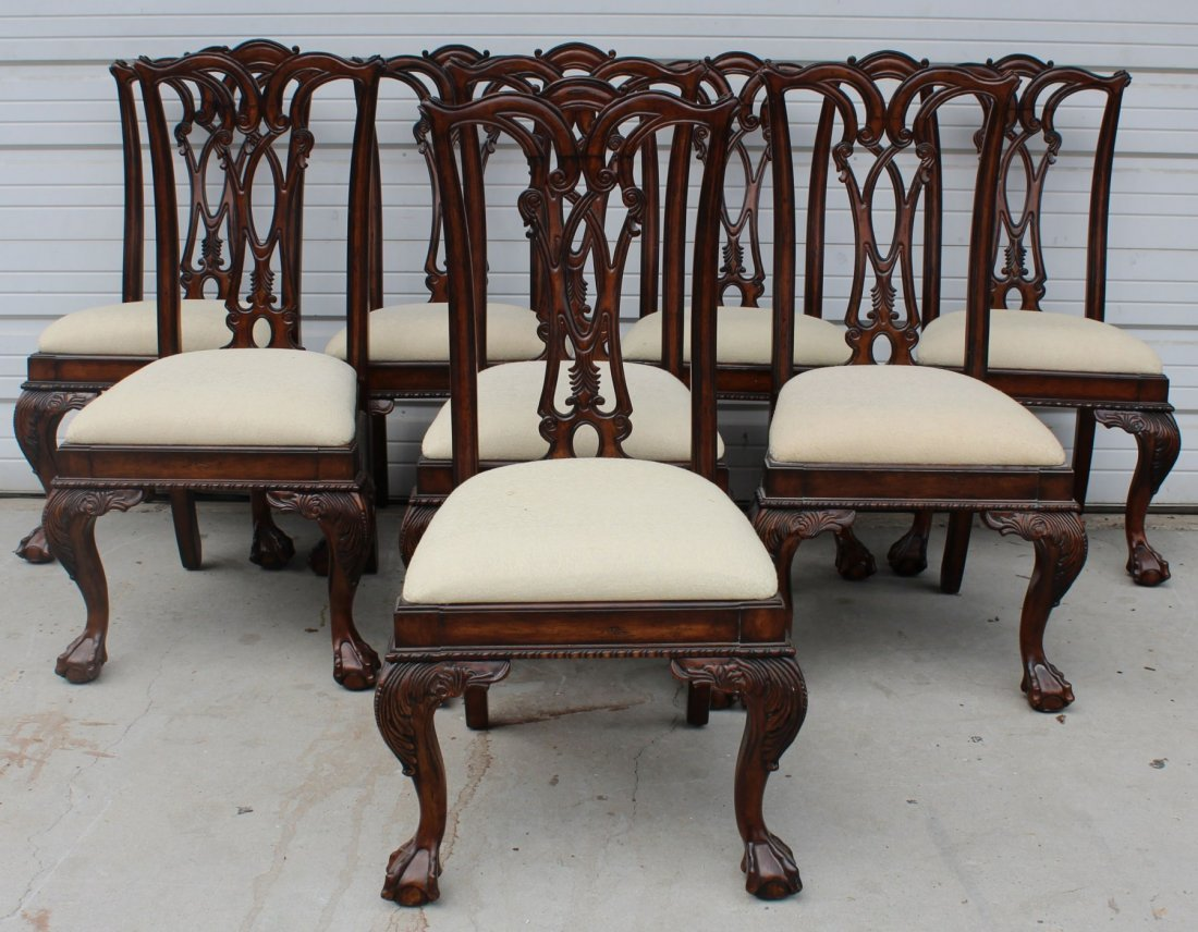 of 8 Drexel Heritage Chippendale dining chairs