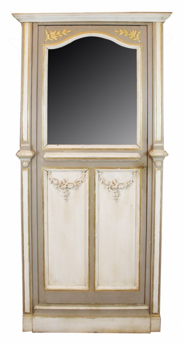 French Regency bonnetiere in painted finish