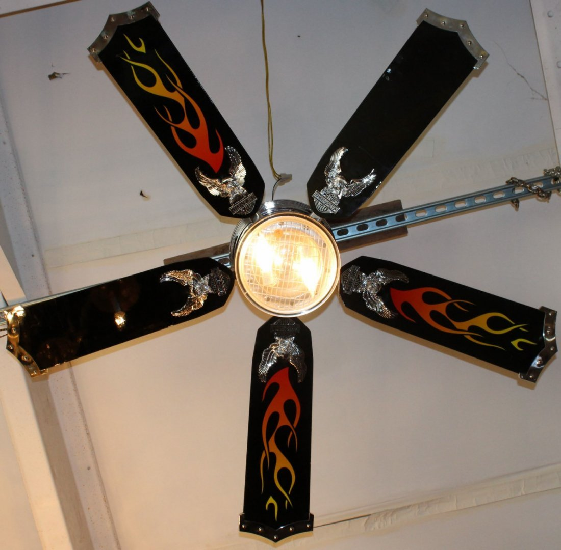Auto Ceiling Fan : Harley davidson ceiling fan with remote