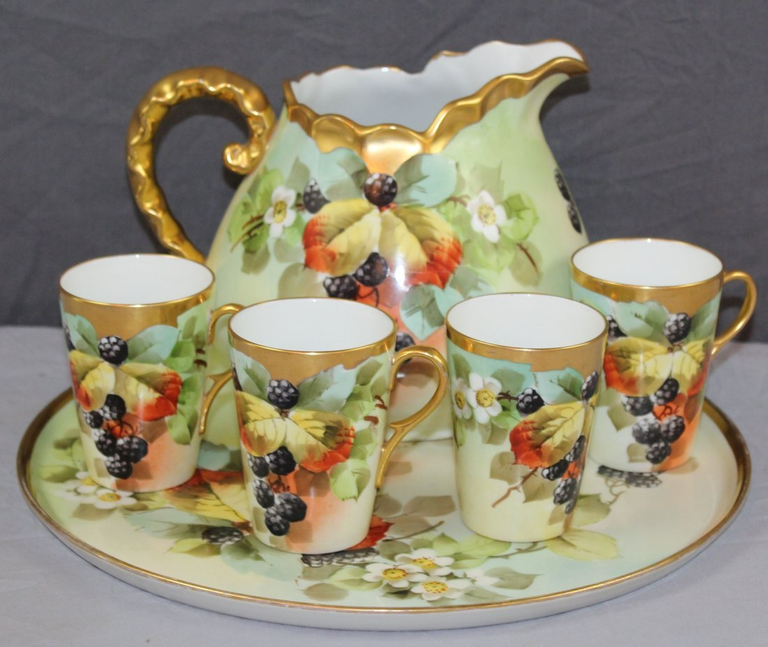 Hand painted porcelain  service