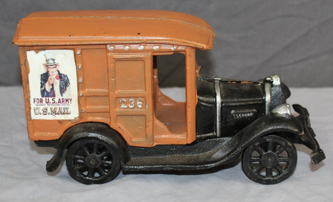 Cast iron mail truck