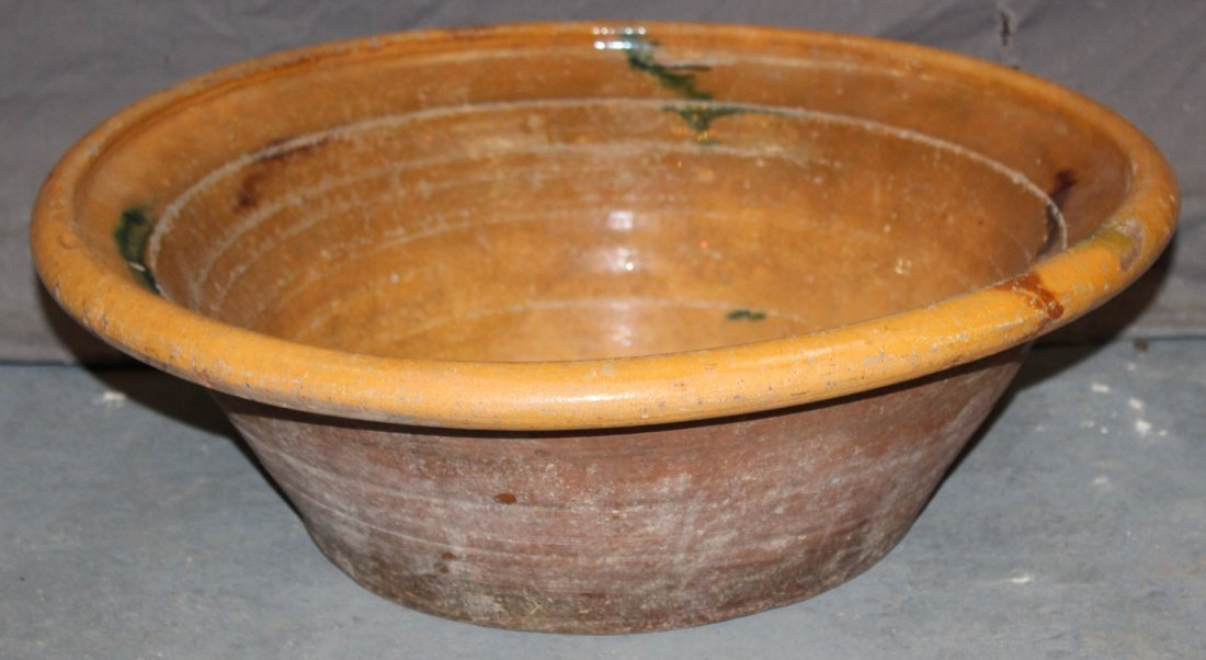 French Provincial glazed terra cotta bowl