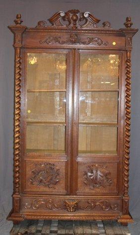 French Louis Xiii Bookcase In Oak