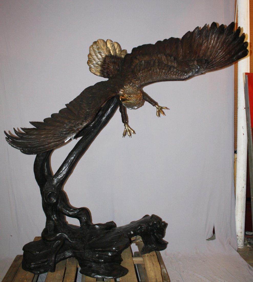 Grand scale soaring eagle bronze