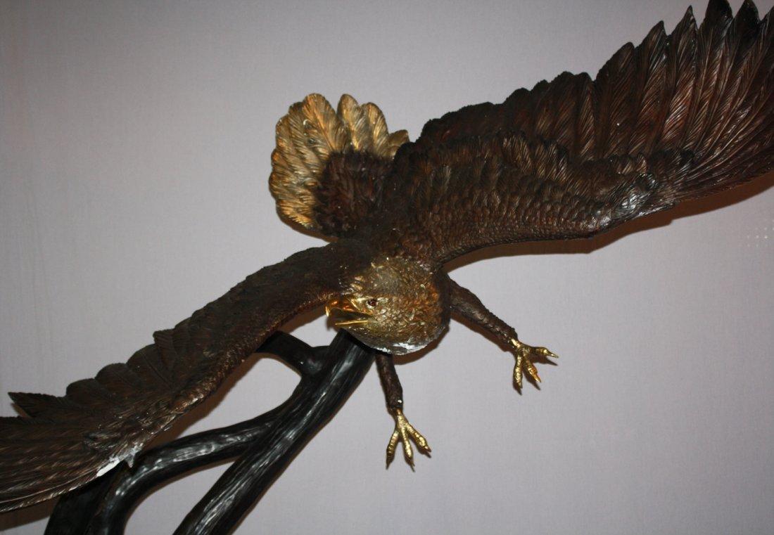 Grand scale soaring eagle bronze - 4