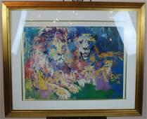 Leroy Neiman lithograph of Lion