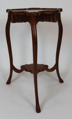 Mahogany Triangular 3-leg Side Table