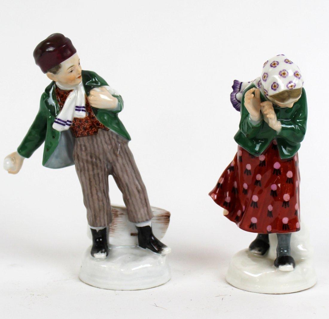 Pair of Meissen pocelain figurines
