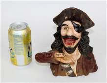 Cast iron pirate bank