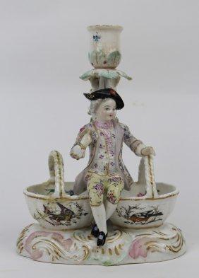 Meissen Porcelain Candle Holder