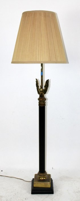 Floor Lamp With Brass Eagle.