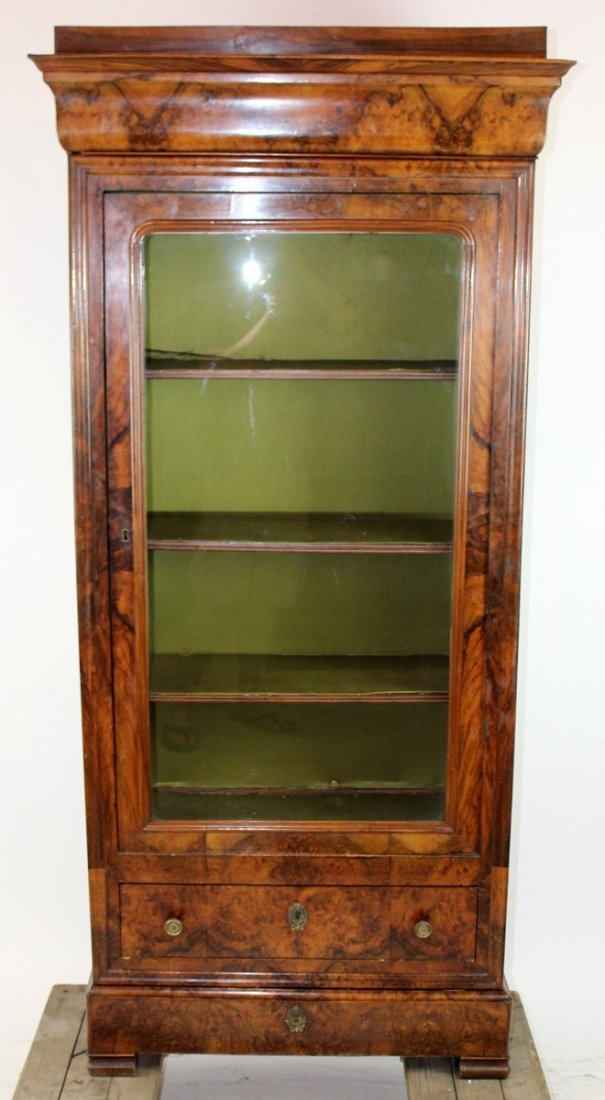 French Louis Philippe single door bookcase