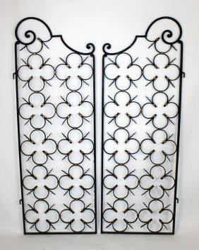 Pair Of French Wrought Iron Garden Gates