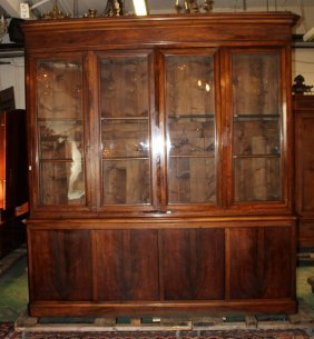 French Louis Philippe 4-door Bookcase In Mahogany