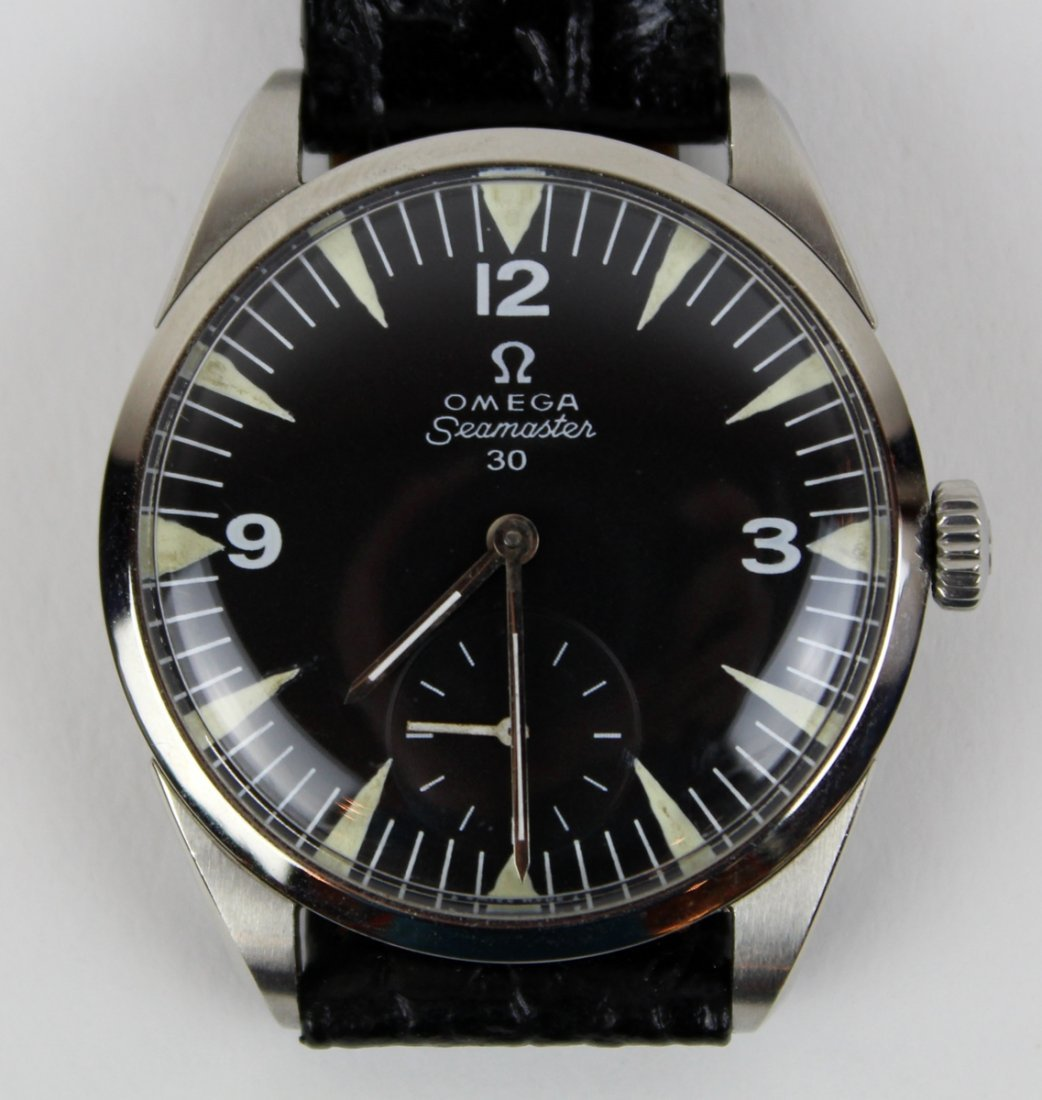 Vintage Omega Seamaster 30 watch with leather band