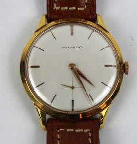 Vintage Movado Men's Watch With Leather Band