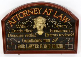 Wooden Painted Advertising Sign