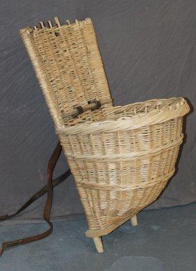 French Wicker Hotte (grape Harvest Basket)