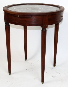 French Louis Xvi Style Bouillotte Table