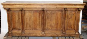 French Louis Philippe Front Bar In Pine