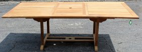 Teak Garden Dining Table With Butterfly Leaf