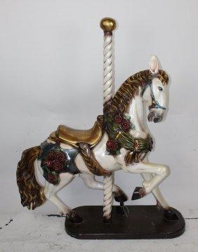 Carousel Horse On Post