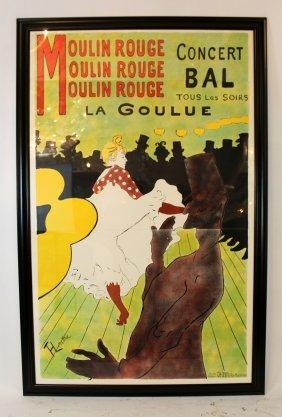 Toulouse Lautrec Designed Moulin Rouge Poster