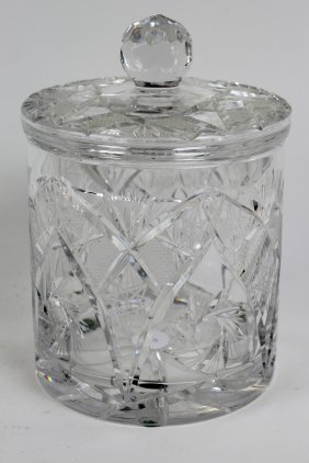 Cut Crystal Lidded Biscuit Jar