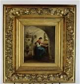 Oil on canvas portrait of a woman  V Keller