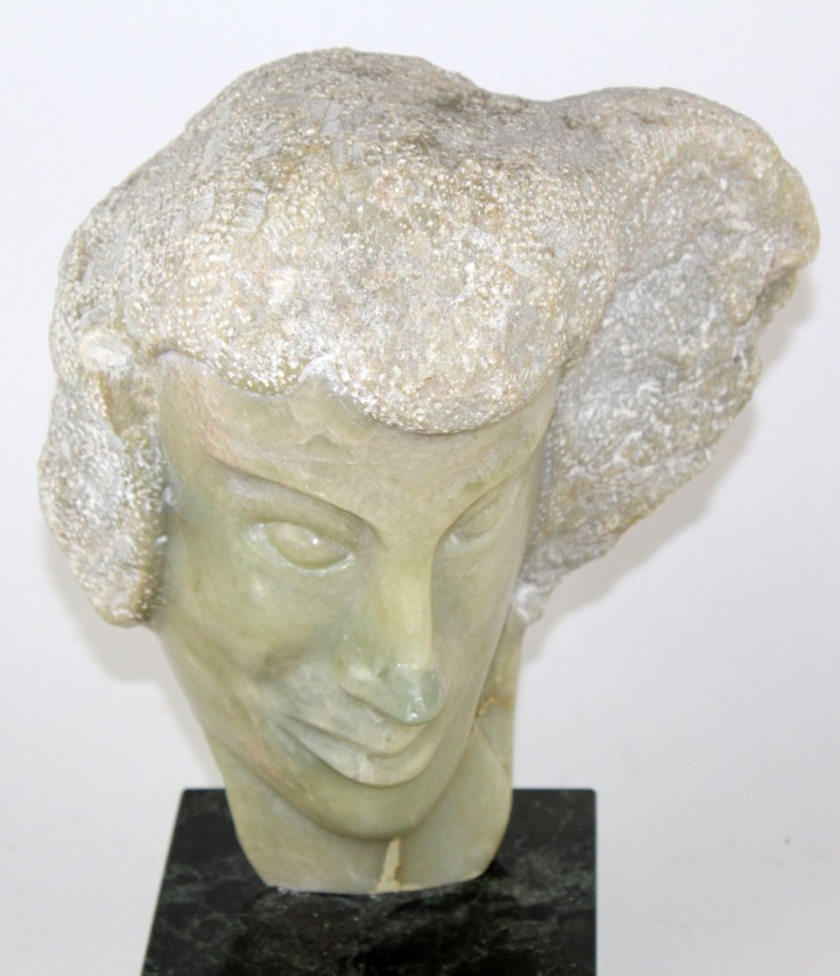 Marble bust of Chopin by Schroer (1911-1995)