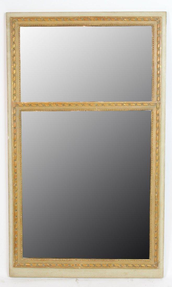 Painted Louis XVI style Borghese mirror