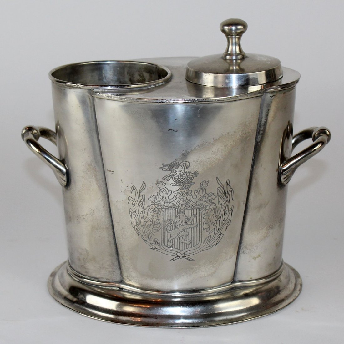 French silverplate wine cooler