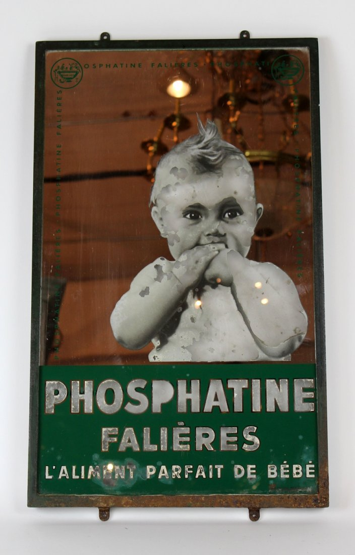 Antique French pharmacy advertisement sign