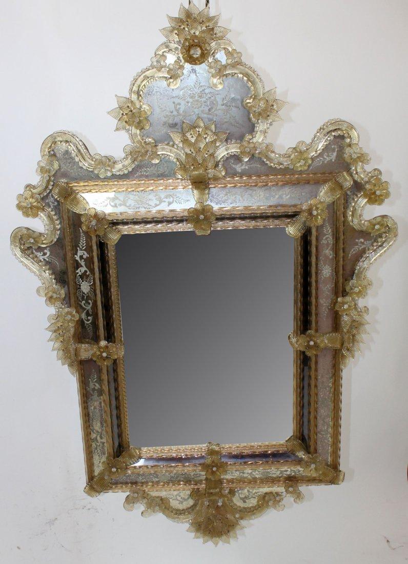19th c Venetian mirror