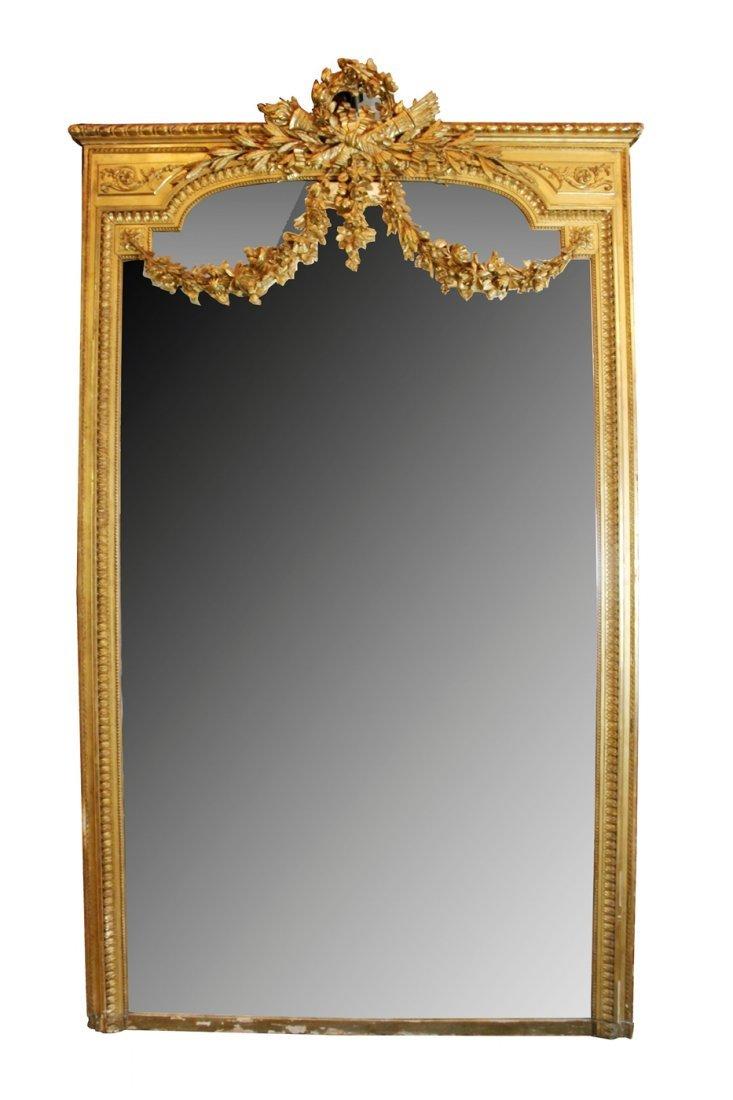 French Louis XVI gilt mirror
