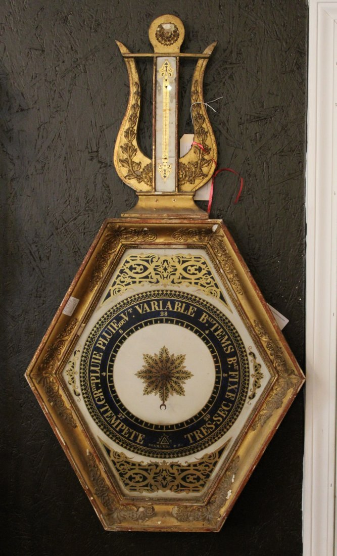 French Empire hexagonal barometer
