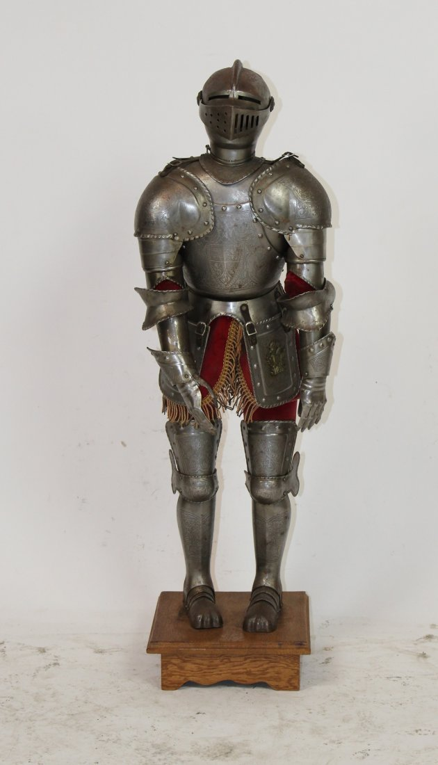Miniature Medieval style suit of armor