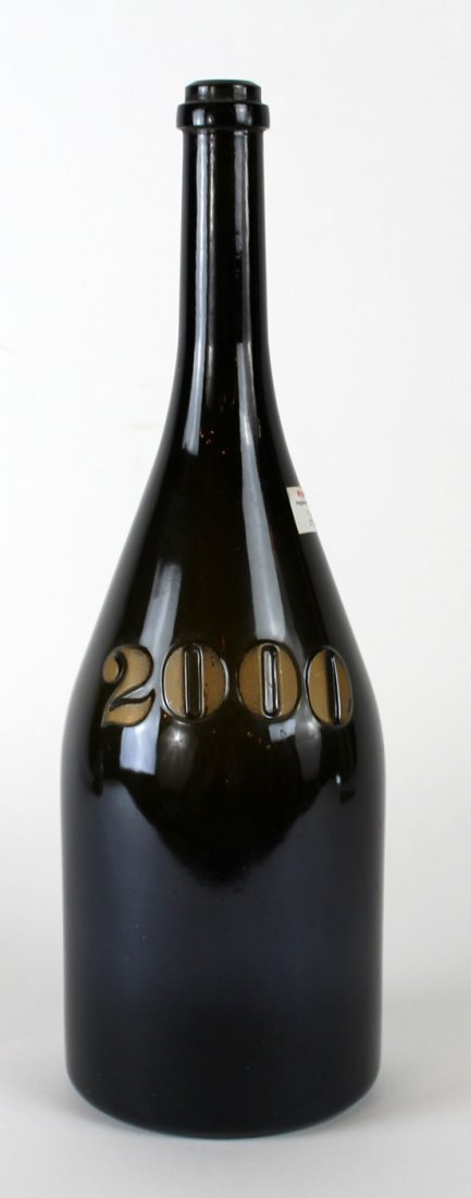 French commemorative champagne bottle from 2000